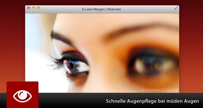 Schnelle Augenpflege bei müden Augen